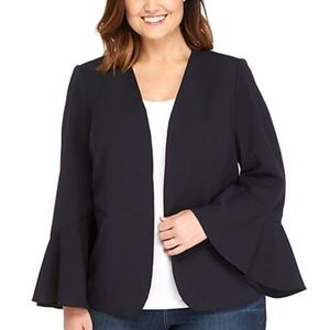 The Limited NAVY Bell Sleeve Jacket NWT
